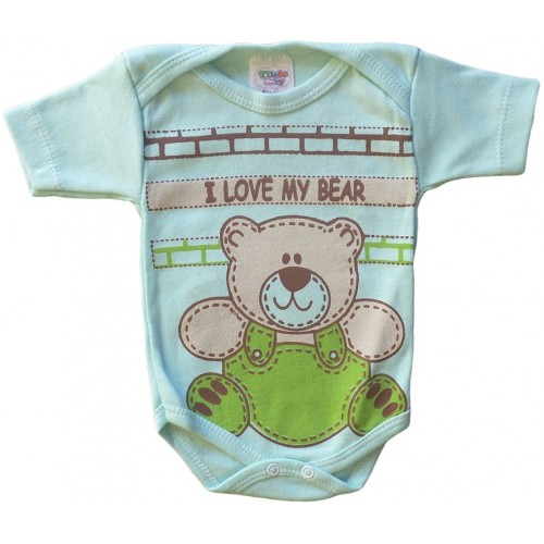 Body Bebê I love My Bear
